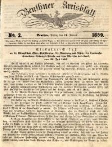 Beuthner Kreisblatt, 1859, No. 2