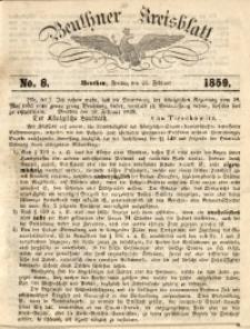 Beuthner Kreisblatt, 1859, No. 8