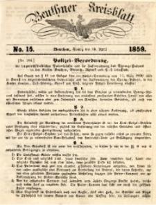 Beuthner Kreisblatt, 1859, No. 15
