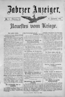 Zabrzer Anzeiger, 1914, Nr. 71