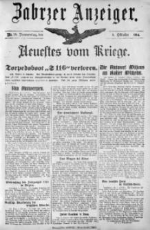 Zabrzer Anzeiger, 1914, Nr. 95