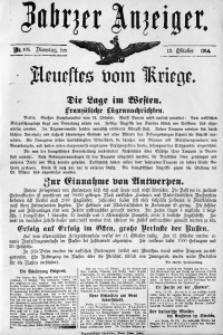 Zabrzer Anzeiger, 1914, Nr. 105