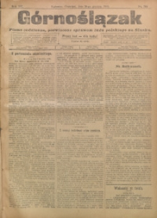 Górnoślązak, 1908, R. 7, nr 285