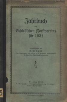 Jahrbuch des Schlesischen Forstvereins für 1931