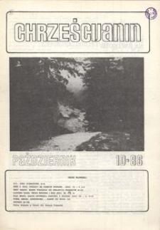 Chrześcijanin, 1986, nr 10
