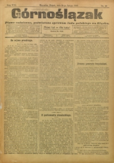 Górnoślązak, 1909, R. 8, Nr. 40