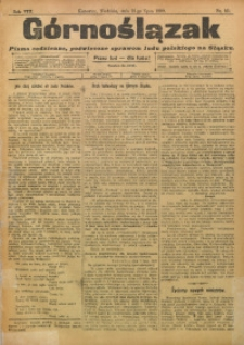 Górnoślązak, 1909, R. 8, Nr. 161