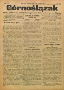 Górnoślązak, 1909, R. 8, Nr. 179