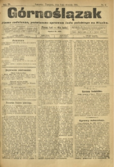 Górnoślązak, 1910, R. 9, Nr. 6