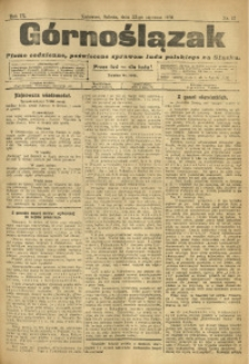 Górnoślązak, 1910, R. 9, Nr. 17