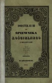 Dodatek II i III do Śpiewnika kościelnego z melodyjami