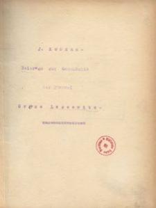 Beitrage zur Geschichte der Pfarrei Gross Lassewitz