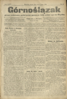 Górnoślązak, 1913, R. 14, Nr. 37