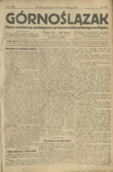 Górnoślązak, 1913, R. 14, Nr. 205