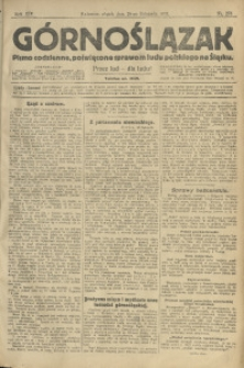 Górnoślązak, 1913, R. 14, Nr. 276