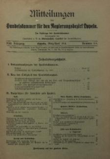 Mitteilungen der Handelskammer für den Regierungsbezirk Oppeln, 1916, Jg. 22, Nr. 3/4