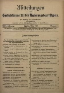 Mitteilungen der Handelskammer für den Regierungsbezirk Oppeln, 1920, Jg. 26, Nr. 3