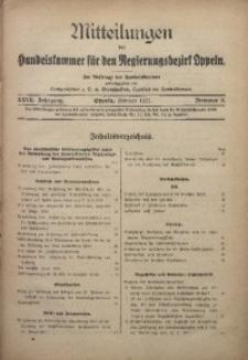 Mitteilungen der Handelskammer für den Regierungsbezirk Oppeln, 1921, Jg. 27, Nr. 2