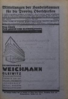 Mitteilungen der Handelskammer für die Provinz Oberschlesien, 1923, Jg. 29, Nr. 5