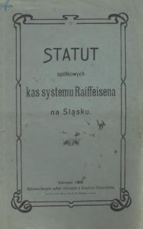 Statut Spółkowej Kasy Oszczędności i Pożyczek w Cierlicku spółki zarejestrowanej z nieograniczoną poręką, 1909