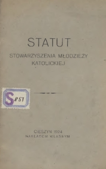 Statut Stowarzyszenia Młodzieży Katolickiej, 1924