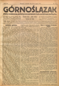 Górnoślązak, 1914, R. 15, Nr. 58