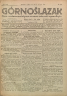 Górnoślązak, 1917, R. 16, Nr. 20