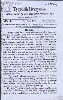 Tygodnik Cieszyński, 1848, Nry 1-35