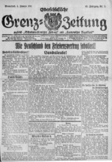Oberschlesische Grenz-Zeitung, 1921, Jg. 49, Nr. 5