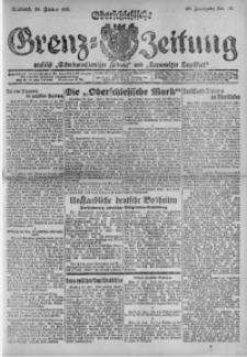Oberschlesische Grenz-Zeitung, 1921, Jg. 49, Nr. 20
