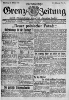Oberschlesische Grenz-Zeitung, 1921, Jg. 49, Nr. 36