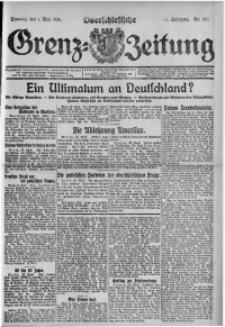 Oberschlesische Grenz-Zeitung, 1921, Jg. 49, Nr. 100