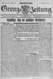 Oberschlesische Grenz-Zeitung, 1921, Jg. 49, Nr. 108
