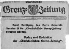 Oberschlesische Grenz-Zeitung, 1921, Jg. 49, 25 Mai