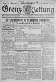 Oberschlesische Grenz-Zeitung, 1921, Jg. 49, Nr. 136