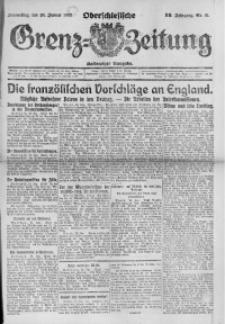 Oberschlesische Grenz-Zeitung, 1922, Jg. 50, Nr. 21