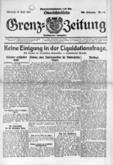 Oberschlesische Grenz-Zeitung, 1922, Jg. 50, Nr. 85