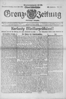 Oberschlesische Grenz-Zeitung, 1922, Jg. 50, Nr. 160