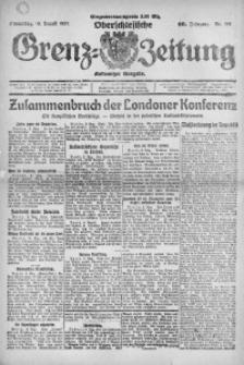 Oberschlesische Grenz-Zeitung, 1922, Jg. 50, Nr. 182