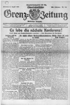 Oberschlesische Grenz-Zeitung, 1922, Jg. 50, Nr. 186