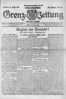 Oberschlesische Grenz-Zeitung, 1922, Jg. 50, Nr. 192
