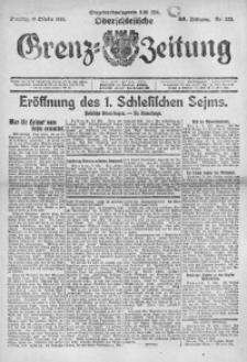 Oberschlesische Grenz-Zeitung, 1922, Jg. 50, Nr. 233
