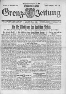 Oberschlesische Grenz-Zeitung, 1922, Jg. 50, Nr. 274