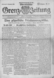 Oberschlesische Grenz-Zeitung, 1922, Jg. 50, Nr. 297