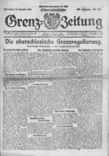 Oberschlesische Grenz-Zeitung, 1922, Jg. 50, Nr. 298