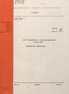 Czyny produkcyjne i zakładowe-społeczne w 1976 r. województwa legnickiego