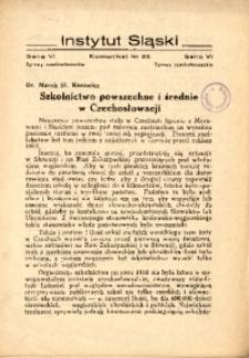 Szkolnictwo powszechne i średnie w Czechosłowacji