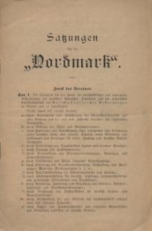 """Satzungen für die """"Nordmark"""", [1894]"""