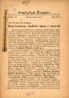 Repolonizacja śląskich imion i nazwisk