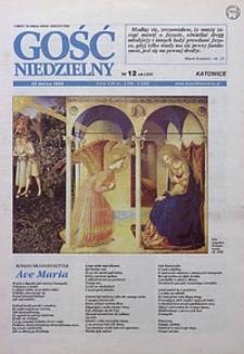 Gość Niedzielny, 1998, R. 71, nr 12